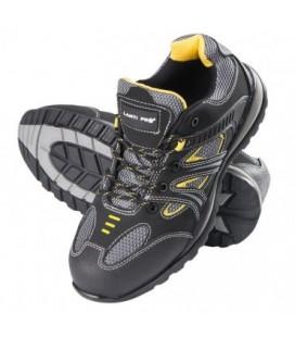 Darbo batai odiniai/medžiag. juodai-gelt.S1P SRA ,CE,LAHTI
