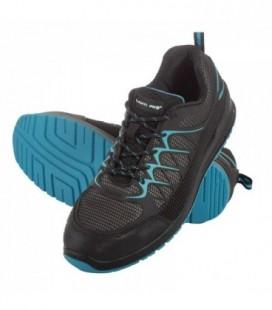 Darbo batai guminiai/medžiag. juodai-mėlyni.,S1P SRC , CE,LAHTI