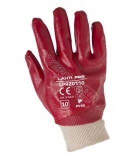 Pirštinės PVC raudonos ,CE,LAHTI