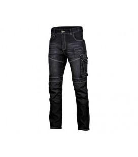 Kelnės džinsinės juodos su sutvirtinimais ,CE,LAHTI