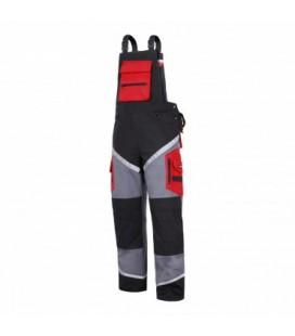 Kelnės su petn. juodai-pilkai-raud.,medvilnė 100% CE,LAHTI