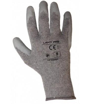 Pirštinės apsauginės aplietos lateksu, pilkos ,CE,LAHTI PRO