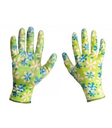 Pirštinės moteriškos nitrilas žalios ,CE,LAHTI