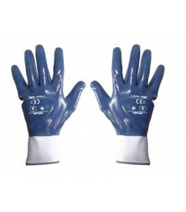 Pirštinės apsaug.nitrilas mėlynai-balti ,CE,LAHTI