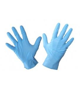 Pirštinės vienkartinės nitr.mėlynos , 100vnt,CE,LAHTI