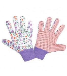 Pirštinės moteriškos taškuotos violetinės ,CE,LAHTI